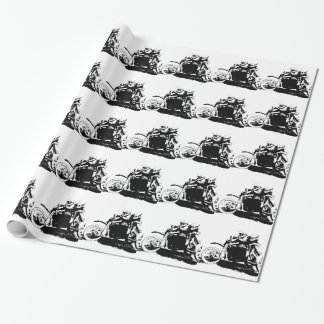 Simple Sidecarcross Design Wrapping Paper