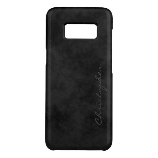 Simple Signature Mottled Black Case-Mate Samsung Galaxy S8 Case