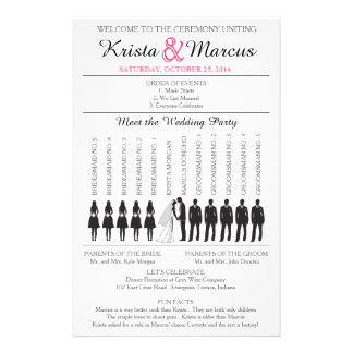 Simple Silhouettes Wedding Program Flyer-5B Personalized Flyer