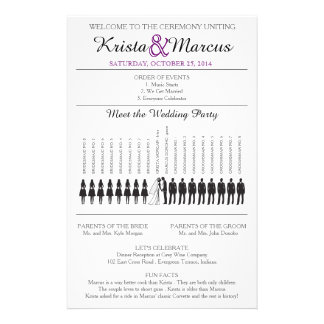 Simple Silhouettes Wedding Program Flyer-8 Flyers