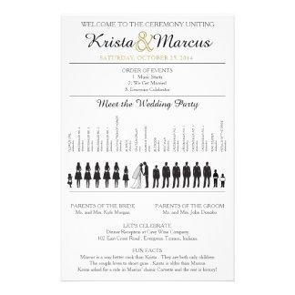 Simple Silhouettes Wedding Program Flyer-8 Full Colour Flyer