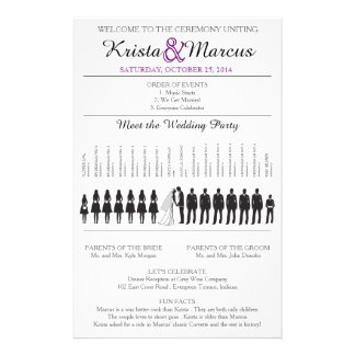 Simple Silhouettes Wedding Program Flyer-9 Full Color Flyer