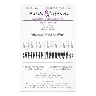 Simple Silhouettes Wedding Program Flyer-9 Full Colour Flyer