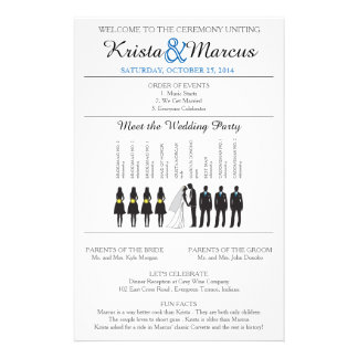 Simple Silhouettes Wedding Program Flyer-9 Personalized Flyer