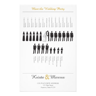 Simple Silhouettes Wedding Program Flyers