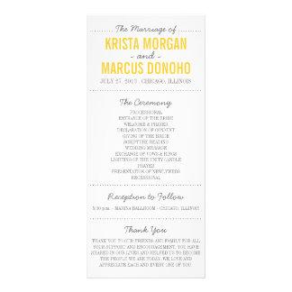 Simple Silhouettes Wedding Program Rack Card -Grey