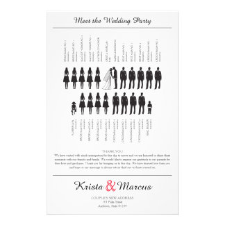 Simple Silhouettes Wedding Programs Flyers