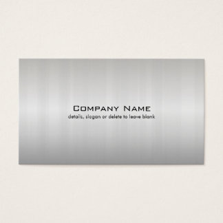 Simple Silver Brushed Metal Look Business Card