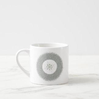 Simple Silver Starburst Espresso Cup