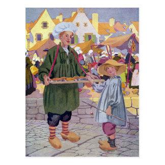 Simple Simon and Pieman at the Fair Postcard