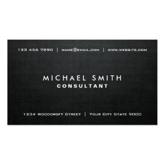 Simple simple moderne noir élégant professionnel modèle de carte de visite