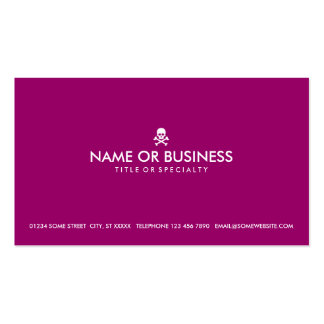 simple skull and crossbones (color customizable) pack of standard business cards