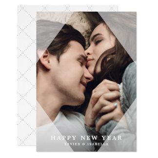Simple & Sleek New Year Photo Holiday Card