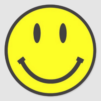Simple Smiley Face! Classic Round Sticker