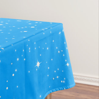Simple Snow and Stars on (Your Color) Tablecloth