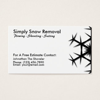 Simple Snow Shoveling, Plowing, Removal Card