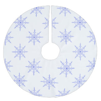 Simple Snowflake Brushed Polyester Tree Skirt
