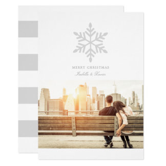 Simple Snowflake (Choose Your Color) Holiday Photo Card