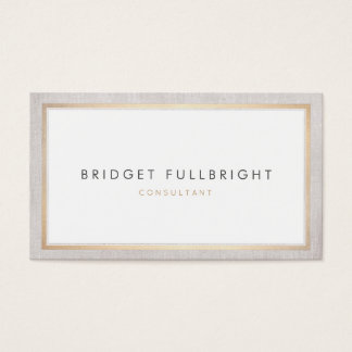 Simple Sophisticated Professional Gold Border Business Card