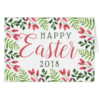 Simple Spring Blossom Happy Easter Card