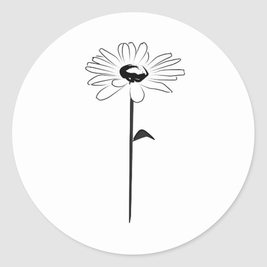 Simple Spring Daisy Classic Round Sticker