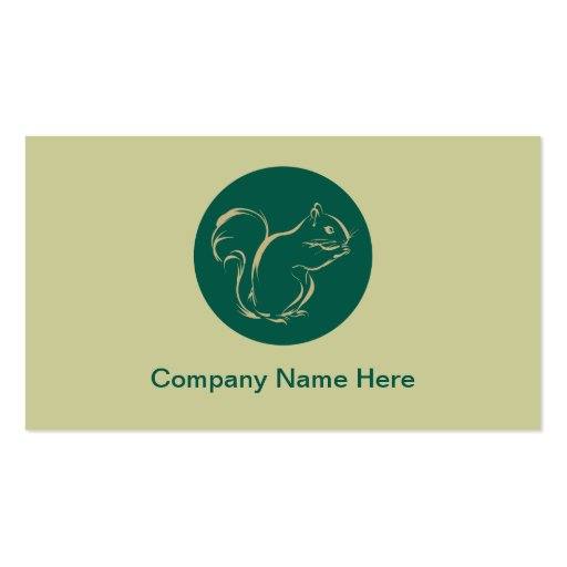Simple Squirrel Business Cards