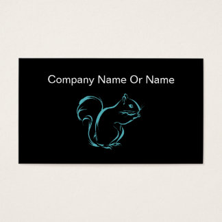 Simple Squirrel Silhouette Business Cards