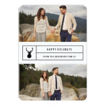 """Simple Stag   Holiday Photo Card 5"""" X 7"""" Invitation Card"""