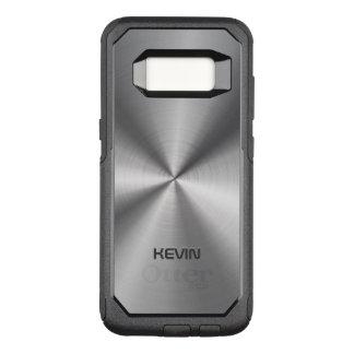 Simple Stainless Steel Metallic Texture OtterBox Commuter Samsung Galaxy S8 Case