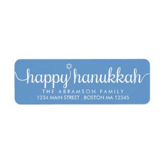 Simple Star Happy Hanukkah Return Address Label