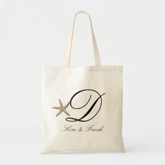 Simple starfish budget tote bag