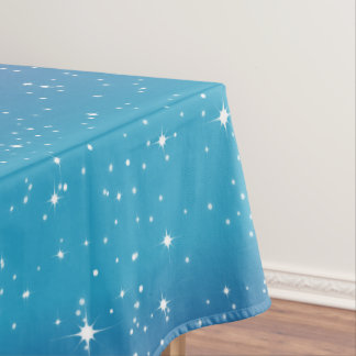 Simple Stars/Blue Gradient Background Tablecloth1 Tablecloth