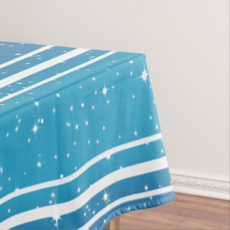 Simple Stars/Blue Gradient Background Tablecloth2 Tablecloth