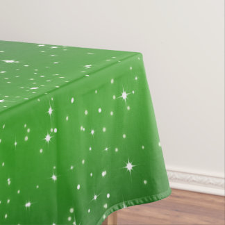 Simple Stars / Green Gradient Background Tablecloth