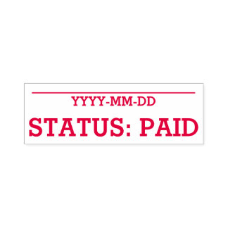 "Simple ""STATUS: PAID"" Rubber Stamp"