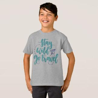 Simple Stay Wild Go Travel Tagless Shirt