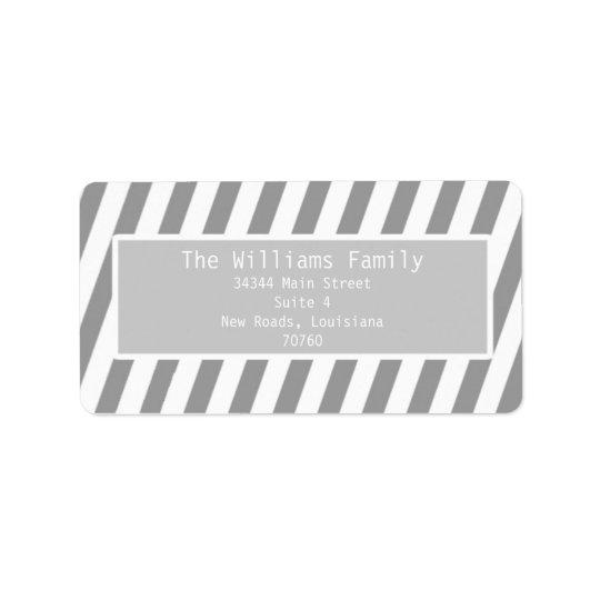 Simple Stripes Label