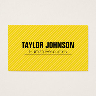 Simple | Stripes (Yellow) Business Card