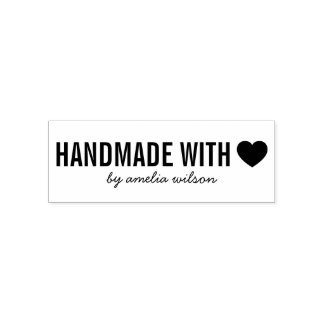 Simple Stylish Personalize Handmade with Love Self-inking Stamp