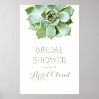 Simple Succulent Wedding or Bridal Shower Sign