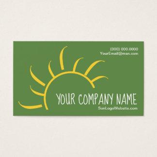 Simple Sun Logo Business Card Design