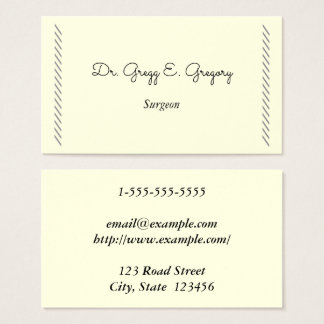 Simple Surgeon Business Card