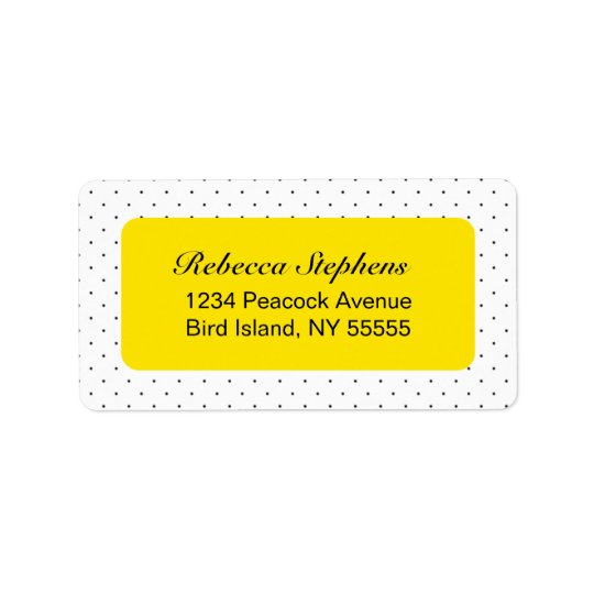 Simple Sweet Polka Dot- Yellow and Black