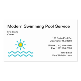 Simple Swimming Pool Service Business Card