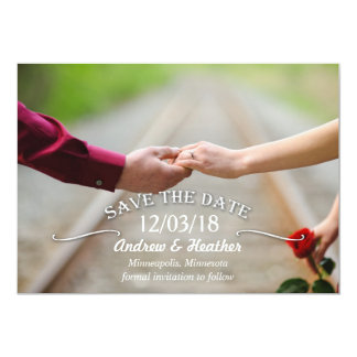 Simple Swirl Wedding Save the Date Card