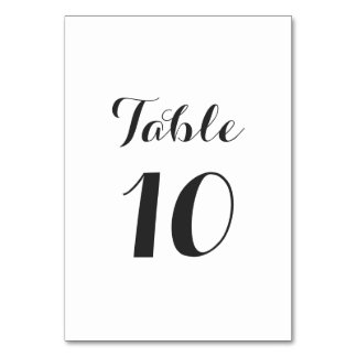 Simple Table Number Template Table Card