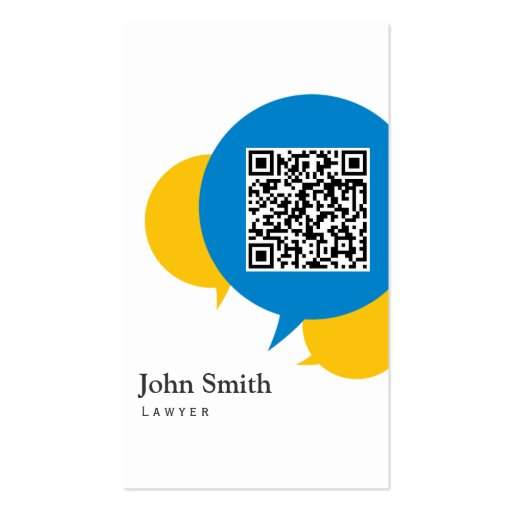 Simple Talk Bubbles Lawyer Business Card