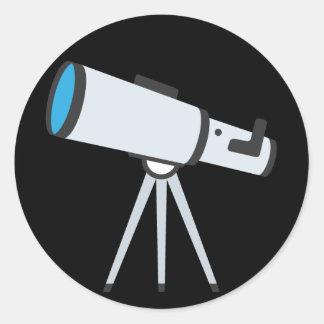 Simple Telescope Emoji Classic Round Sticker