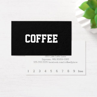 Simple Text Coffee Superstar Centered Business Card