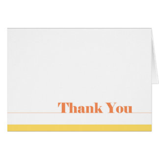 Simple Thank You Card Blank Inside